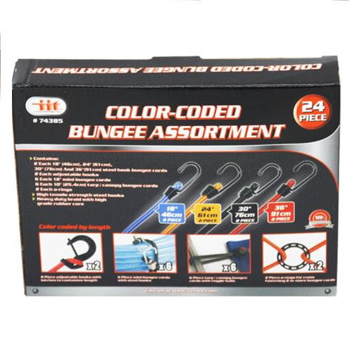 Wholesale COLOR-CODED BUNGEE ASSORTMENT 24''