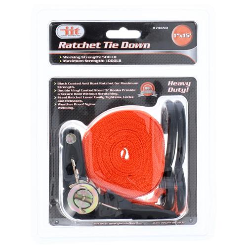 "Wholesale 1"" X 15' Ratchet Tie Down"
