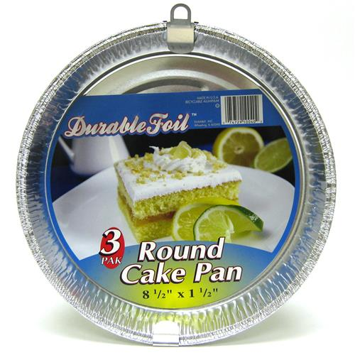 Wholesale Round Cake Pan - Foil 8.5 x 1.5""""""""