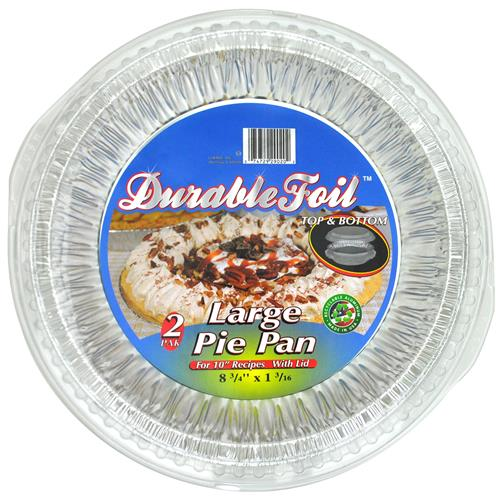 Wholesale Foil Large Pie Pan with Dome Lid 8.75x1.18""