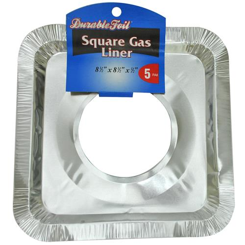 "Wholesale Foil Square Gas Range Burner Liner 8.5""x8.5"""