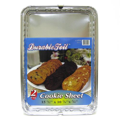 Wholesale 2 Pack Cookie Sheet - Foil  15.5 x 10.75 x .75""