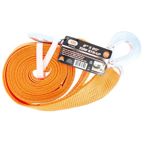 """Wholesale 2"""" X 20' Tow Strap with Safety Hooks"""