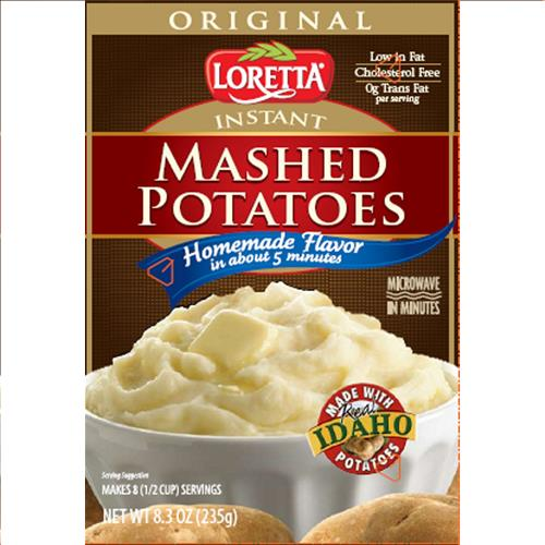 Wholesale Loretta Instant Mashed Potatoes - Box Exp 2/24/2016