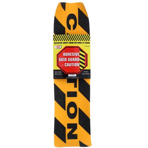 "Wholesale 6x24"" ADHESIVE SKID GUARD SAFETY TREAD - CAUTION"