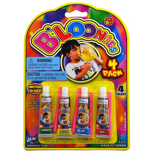 Wholesale B'loonies Bubble Blowing Goo Tubes with Straw Asso