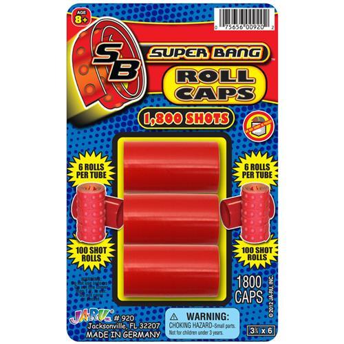 Wholesale Super Bang Roll Caps 1,800 Shots