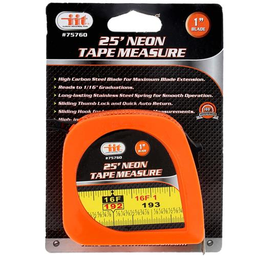 Wholesale Neon Tape Measure 25' X 1""""