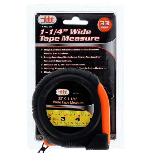 "Wholesale 1-1/4"""" Wide Tape Measure 33'"