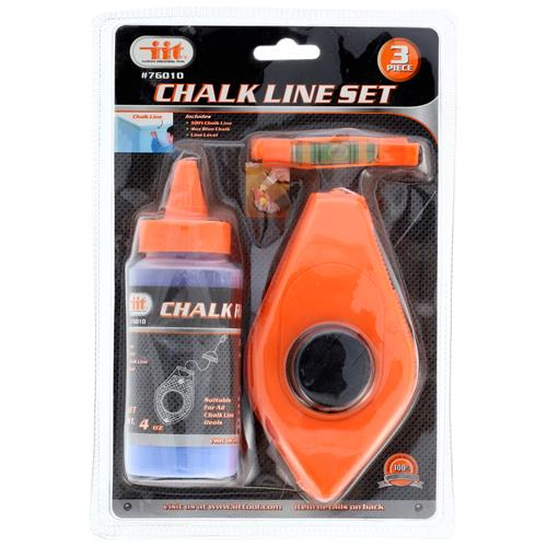 Wholesale 3pc Chalk, Reel, & Level