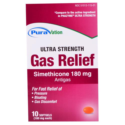 Wholesale Puravation Ultra Strength Gas Relief Softgels (Phazyme) Expires 7/14