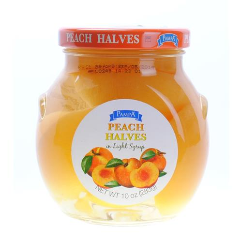 Wholesale PAMPA PEACH HALVES IN GLASS JAR