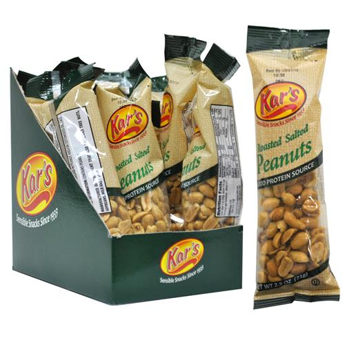 Wholesale Kar's Salted Peanuts Tube - Shelf Display