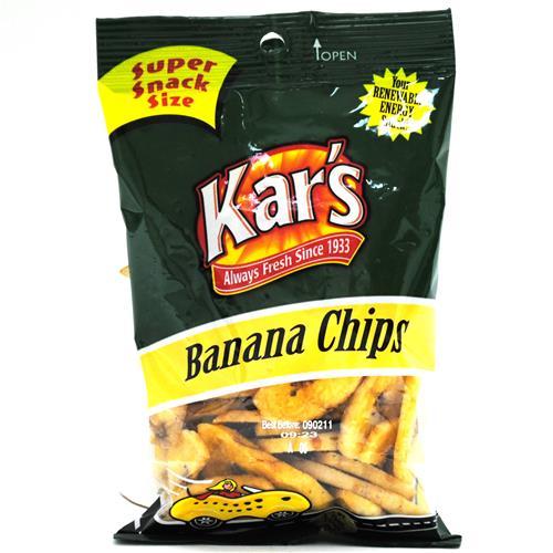 Wholesale Kar's Banana Chips in Peggable Bag