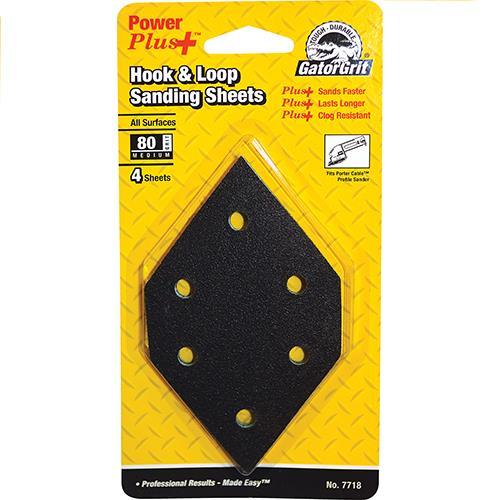 Wholesale 4 Sheets GatorGrit Hook & Loop 80 Sanding Sheets for Porter Cable Profile Sander