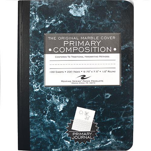 Wholesale MARBLE COMPOSITION BOOK -BLUE
