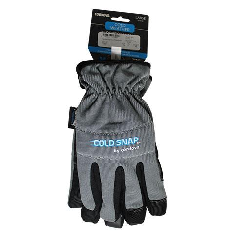 Wholesale CORDOVA COLD WEATHER GLOVES PADDED GRIPPER PALM LARGE