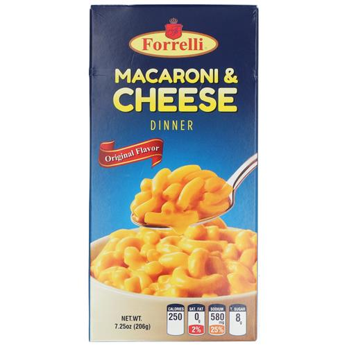 Wholesale Forrelli Macaroni and Cheese 7.25oz