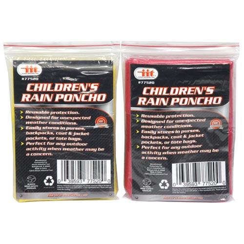 Wholesale CHILDRENS RAIN PONCHO