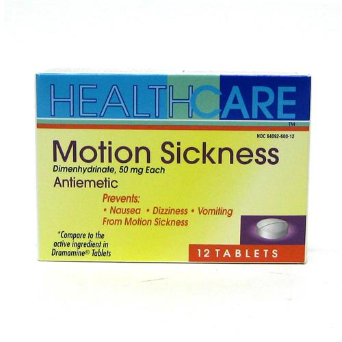 Wholesale Health Care Motion Sickness 50mg Tablet (Dramamine