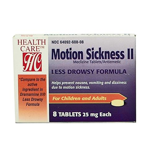 Wholesale Health Care Motion II Meclizine 25mg Tablet (Drama