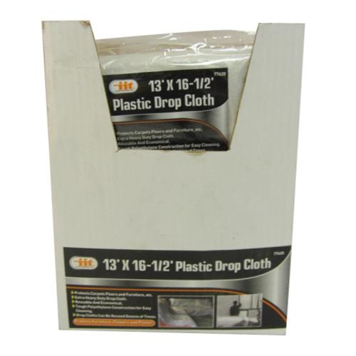 Wholesale Plastic Drop Cloth 13' X 16-1/2'