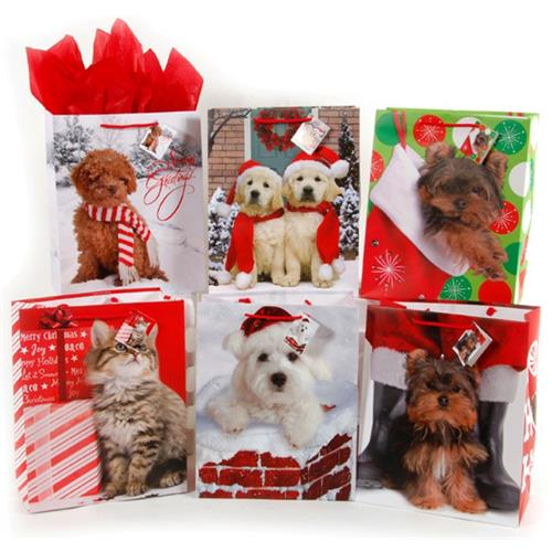 Wholesale CMAS BAG HOLIDAY PET LARGE 6 ASST