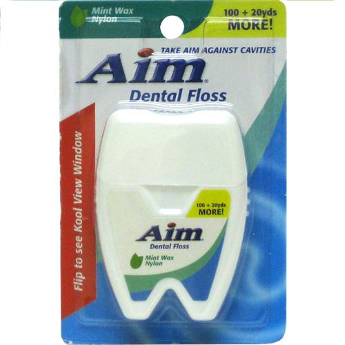 Wholesale Aim 100+20 yards Mint Waxed Floss
