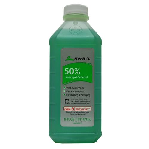 Wholesale Swan 50% Wintergreen Isopropyl Alcohol 16 oz Bottle (USA)