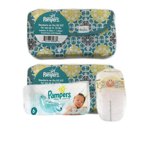 Wholesale DIAPER & 6 WIPES IN TRAVEL CASE NEWBORN ON THE GO KIT NO LABELS