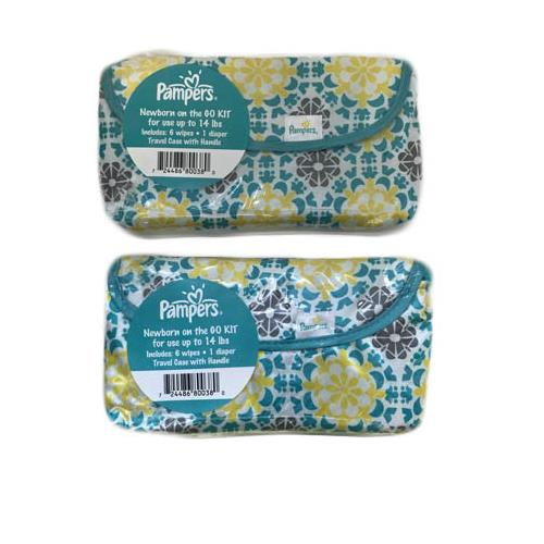 Wholesale PAMPERS DIAPER & 6 WIPES IN TRAVEL CASE NEWBORN ON THE GO KIT