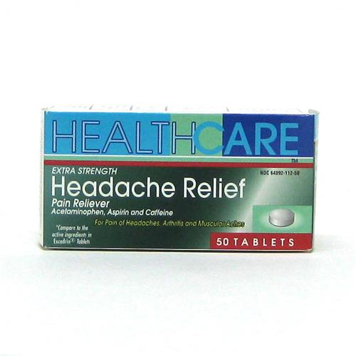Wholesale Health Care Extra Strength Headache Tablets (Exced