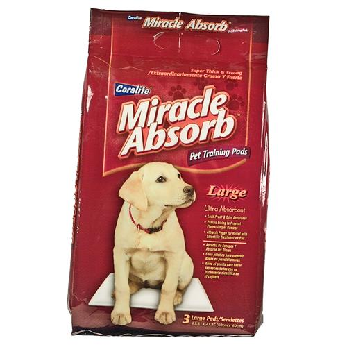 "Wholesale Miracle Absorb Pet Train """"Wee Wee"""" Pads Large 23"