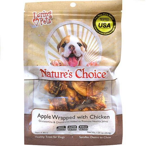 Wholesale Apple Wrapped with Chicken 1.25oz by Nature's Choice