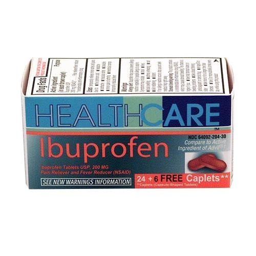 Wholesale Health Care Ibuprofen Caplets Bonus