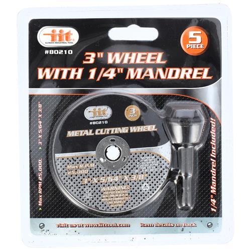 "Wholesale 5PC 3"" WHEEL W/ 1/4"" MANDREL"