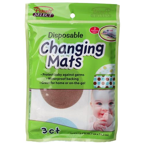 "Wholesale Disposable Diaper Changing Mats 18""x26.95""Paren"
