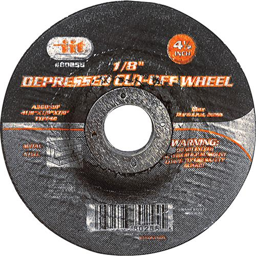 "Wholesale 4-1/2"" X 1/8"" X 7/8"" Depressed Cut-Off Wheel"