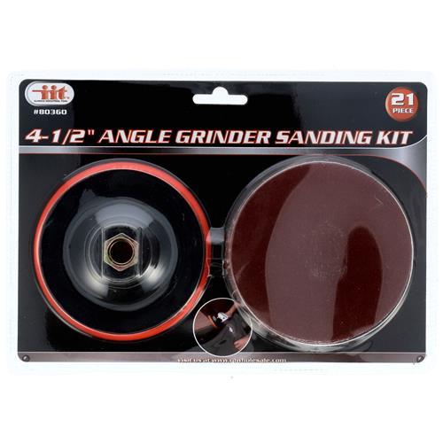 "Wholesale 21pc 4-1/2""  ANGLE GRINDER SANDING KIT"