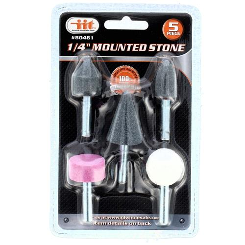 "Wholesale 5pc 1/4"" Mini Mounted Stone Set"