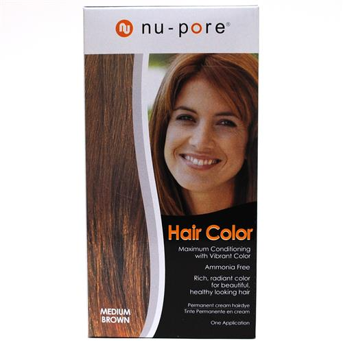 Wholesale Nu-Pore Hair Color - Medium Brown