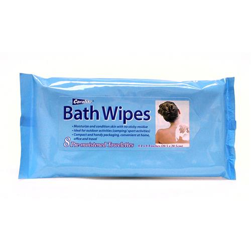 "Wholesale Coralite Bath Wipes (Pre-Moistened) 8.1""x8.1"""