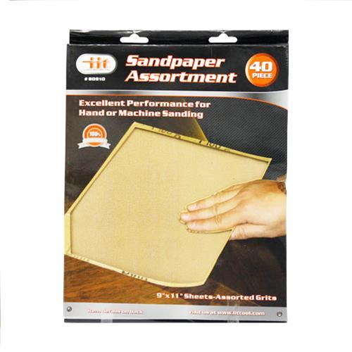 Wholesale 40pc Sandpaper Assortment