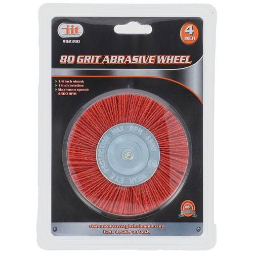 "Wholesale 4"" 80 GRIT ABRASIVE WHEEL"