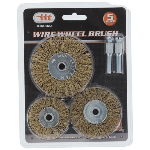 Wholesale 5 Pc Wire Wheel Brush Set