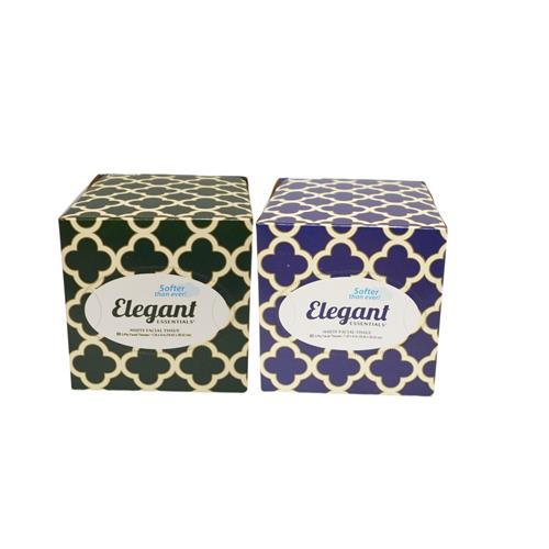 Wholesale Elegant Facial Tissue Cube White 80 ct 2 Ply.
