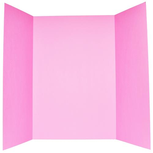 "Wholesale Tri-Fold Foam Display Board 36"" x 48"" Pink 2 Sided"