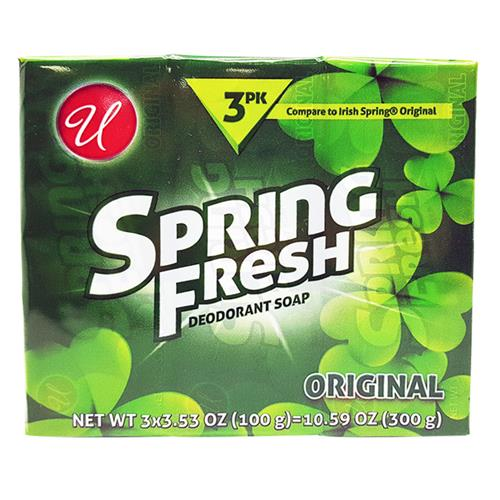 Wholesale SPRING FRESH SOAP 3PK 3.5OZ BARS (100gr)