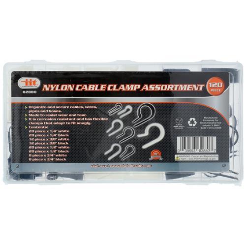 Wholesale 120pc NYLON CABLE CLAMP ASST