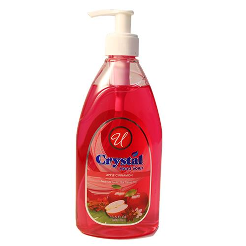 Wholesale 13.5oz CRYSTAL HAND SOAP - APPLE CINNAMON